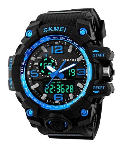 SKMEI Sports Multifunctional Dual Time Digital Blue Dial Men\'s Watch - SK1155C