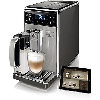 Saeco GranBaristo HD8977/01 Macchina da Caffè Automatica Connessa via Bluetooth con Macine in Ceramica, Filtro AquaClean, Caraffa Latte Integrata