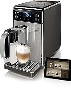 Saeco GranBaristo Avanti HD8977/01 Kaffeevollautomat (1450 Watt, AquaClean, Appsteuerung, integrierte Milchkaraffe) silber