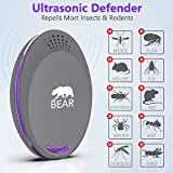 Ultrasonic Pest Repeller - For Pest Control | Electronic Plug-In Insect Pest Repellent For Indoor/Outdoor Use, NO Chemicals - 100% Human Pet Safe - Home, Kitchen, Hotel, Restaurant (2 PACK) (grey)