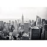 Vlies Fototapete PREMIUM PLUS Wand Foto Tapete Wand Bild Vliestapete - MANHATTAN SKYLINE no.2 - New York City USA Amerika Empire State Building Big Apple - no. 118, Größe:200x140cm Vlies
