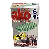 AKO Pads Maxi Edelstahl 6er Pack, 1er Pack (1 x 6 Stück)