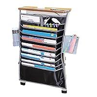 BAO CORE Students Desk Table Book Organiser Pocket Classroom Textbooks Hanging Rack Desktop Supplies Tidy Storage Bag, Black