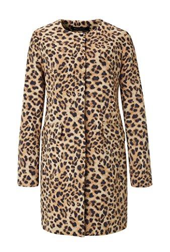 Expresso Hilma Damen Mantel Leoparden-Print Braun Leopard Print Trench