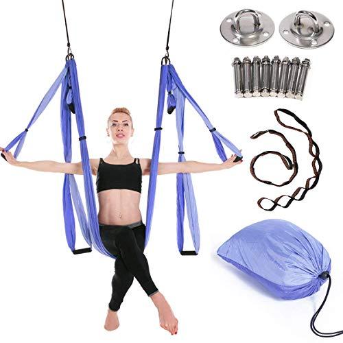 JIALFA Aerial Hamaca de Yoga,Yoga Swing para Yoga antigravedad, Ejercicios de inversión,...