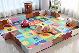 Puzzlematte Spielmatte aus Schaumstoff Kinder–30cm * 30cm * 1.4cm, Kunststoff, Model D, 36