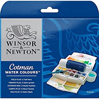 Winsor & Newton Campo Plus Cotman Set de acuarela, caja exterior más 12 medio Godets (B000PD3LY4) | Amazon price tracker / tracking, Amazon price history charts, Amazon price watches, Amazon price drop alerts