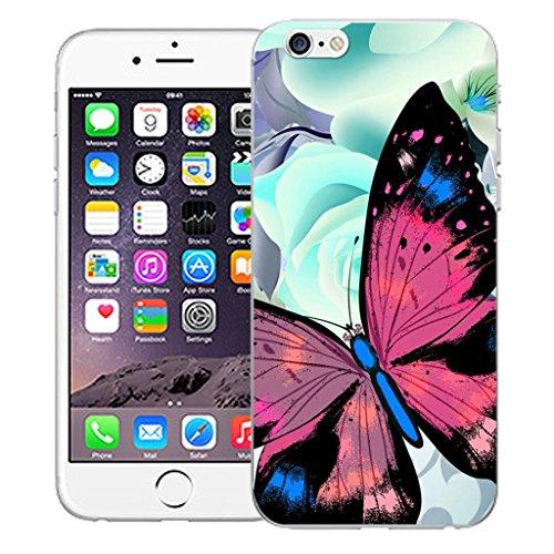 """Nouveau iPhone 6 4.7"""" inch clip on Dur Coque couverture case cover Pare-chocs - vert dragon Motif avec Stylet graceful butterfly"""