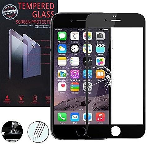 VCOMP® 1 Film Vitre Verre Trempé de protection d'écran pour Apple iPhone 6/ 6s - NOIR