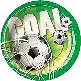 Partyteller * Goal * 8 Stück / Ø 23 cm Plate Fussballteller Fussball Football