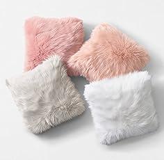 Samdivi Soft Fur Pillow (Multicolour) - Pack Of 4