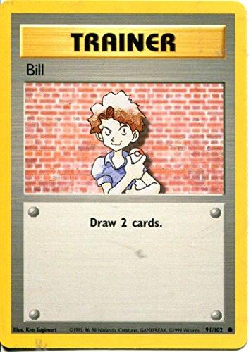 Pokemon Base Set gemeinsamen Karte # 91/102Bill