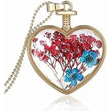 Boda Xinmaoyuan joyería oro Corazón Cristal Azul cielo Flor medallón colgante Flor Colgante cuadro figura Color Burst , regalo de Boda Regalo de Cumpleaños regalo de vacaciones