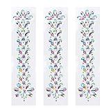 SUPVOX 3 Fogli di Gemme di Cristallo Adesivi Autoadesivi di Strass Autoadesivi per Il Trucco Del Corpo Del Chiodo di Arte Del Mestiere (Bianco Ab)