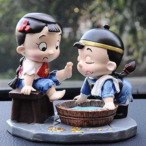 Preisvergleich Produktbild plzxy Auto Paar kleine Verzierungen Keramik Tisch Paar Persönlichkeit Dekoration Auto Liebespuppe Wohnzimmer@rutschfeste A + -Qualitätsmatte
