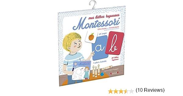 Montessori lecture et l/'écriture de cartes 3 lettre ou lettre de 4 mots 9,5 x 9,5 cm