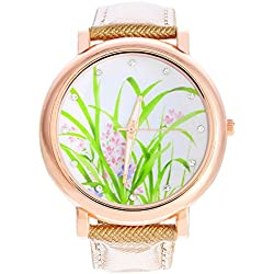 SSITG Daffodil Ladies 'Watch Quartz Watch Leather Band Assorted Colours 24cm Gift Gift