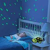2in1 Nachtlicht und Sternenhimmel Projektor für Baby Kinderzimmer Turtle Schildkröte, 3 mögliche LED Farblichter (blau, rot und grün) einstellbar, Auto-OFF Funktion und viele weitere Funktionen, Neu