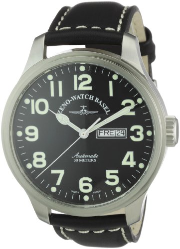 Zeno Watch Basel Pilot Oversized 8554DD-a1- Orologio da uomo