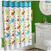 Poliester impermeable moho baño ducha cortina paño del/Cortinas cortina añadir al plomo-B