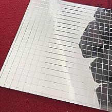 Miniazulejos de mosaico de cristal, lámina cuadrada de cristal auténtico, autoadhesivos, cristal plateado