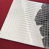 Foglio a mosaico con piastrelle in vetro, mini mosaico quadrato in vetro a specchio, autoadesivo, argento, per artigianato