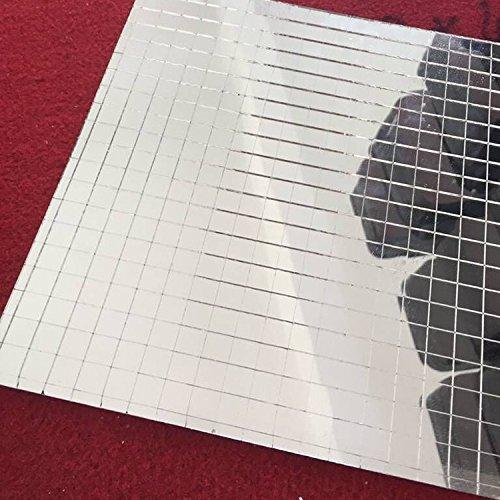 Glas Mosaik Fliesen Mini Quadratisch Glas Mosaik Spiegel Tabelle Echtglas Selbstklebend Silber Glas Crafts