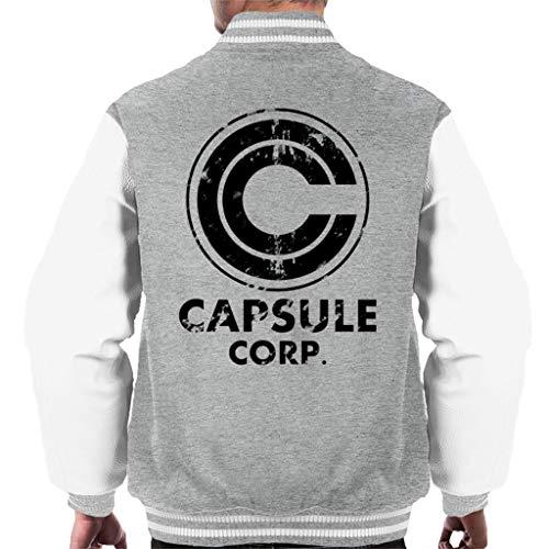 Distressed Capsule Corp Logo Dragon Ball Z Men's Varsity Jacket