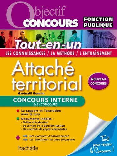 Objectif Concours, Attaché territorial interne