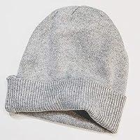 Gorros Gorro De Sombreros Gorras Calentar Cálido Unisex Beanie Sombrero Doble Rizado Color Sólido Grueso Otoño E Invierno ZHANGGUOHUA (Color : Gray)