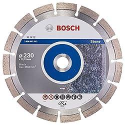 BOSCH Diamanttrennscheibe Expert für Stone, 230 x 22,23 x 2,4 x 12 mm, 2608602592