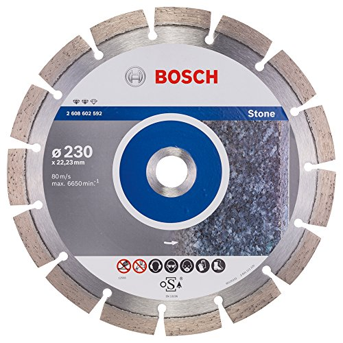 Bosch ProfessionalDiamanttrennscheibe Expert für Stone, 230 x 22,23 x 2,4 x 12 mm, 2608602592