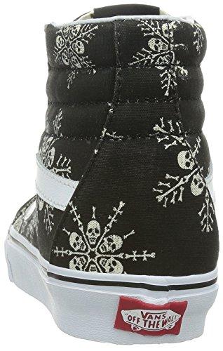 Vans Sk8-Hi Reissue, Sneakers Hautes Mixte Adulte Noir (Van Doren/Skull Snowflake/Black)