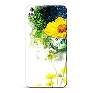 INKIF Floral Abstract Designer Case Printed Mobile Back Cover for HTC Desire 816G(Mutlicolor)
