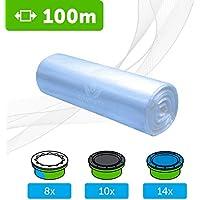 100 M - ECO Recarga compatible Sangenic Tommee Tippee | Angelcare para pañales | equivalente 8 cajitas Sangenic | 14 Angelcare | Producido en Europa