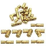 25mm Scharniere Barrel Hinge, 20 Stück WCIC Messing Copper Hidden DIY für Lagerung Organizer Box Container Jewelry Fall Möbel Hand Craft