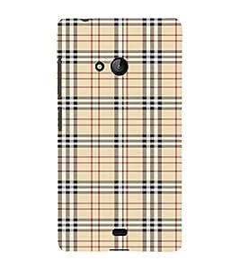 FUSON Plaid Striped Fabric 3D Hard Polycarbonate Designer Back Case Cover for Microsoft Lumia 540 Dual SIM