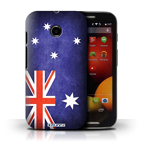 Kobalt® Imprimé Etui / Coque pour Motorola Moto E (2014) / Algérie conception / Série Drapeau Australie/australien