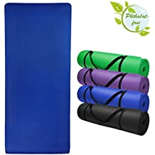 Esterilla colchoneta –de yoga –JOY 200 cm x 80 cm x 1.5 cm para fitness deportiva pilates gimnasia ejercicio, Color:Balance Blue