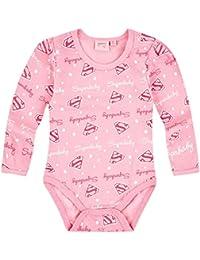 Body manga larga bebé niña 'Superbaby' rosa de 3a 24Meses