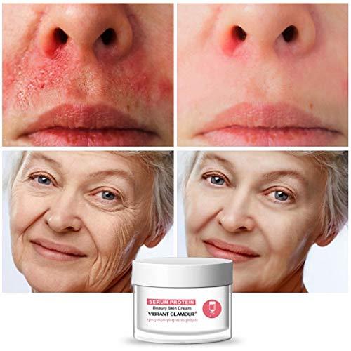 MA87 Gesichtscreme, Hyaluronsäure-Gel-Creme Anti-Aging-Falten-Gesichtsserum-Protein-Schönheitscreme