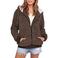 Chaqueta de Cremallera Outwear Tops Sueltos,JiaMeng Más el tamaño de Bolsillo Informal con Capucha Parka Outwear Cardigan Sweater Coat