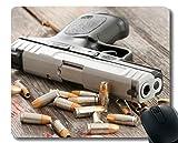Yanteng Il Tuo Tappetino per Mouse Personalizzato, tappetini per Mouse in Gomma con Pistola Bullet