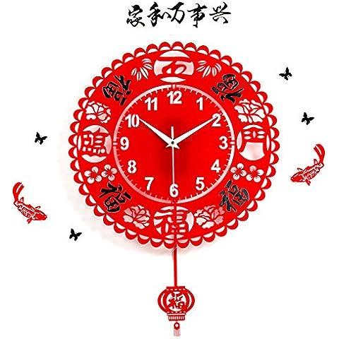 Orologio da parete ShiQi non vola Decration dono orologio al quarzo 20 contemporaneo pollice cinque benedizioni con Wall stickers Mute per Cucina Soggiorno