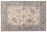 Tappeto Vintage - Velluto Louvre 1 Grey | Tappeto Grande, Elegante| Tappeti Arredo di Facile Manutenzione | Tappeti Antiscivolo | Soggiorno, Camera da Letto, Cucina (140_x_200_cm)
