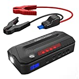 DBPOWER 800A Peak 18000mAh Portable Car Jump Starter, Emergency Battery Booster Pack, Smart Portable Charger Power Bank with Dual USB Outputs, LED Flashlight, Compass, and LCD Screen