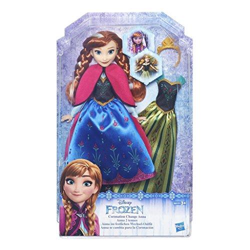 Hasbro Disney Die Eiskönigin B5171ES0 - Disney Die Eiskönigin Anna mit festliches Wechsel-Outfit, Puppe Barbie Anna