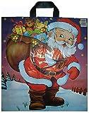 ESH 100 LDPE Tüten Tragetaschen Einkaufsbeutel Plastiktüten Weihnachten Weihnachtsmann mit Sack 38x44 Top Preis
