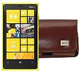 MTT Quertasche für das Nokia Lumia 625 mit Gürtelclip braun