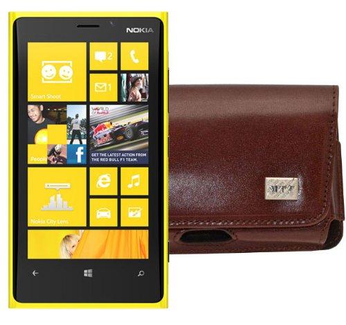 MTT Quertasche für das Nokia Lumia 625 mit Gürtelclip und Sicherheitschlaufe braun